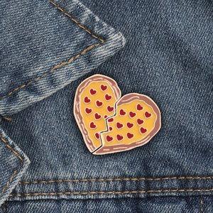 Pizza my Heart Enamel Pin Set